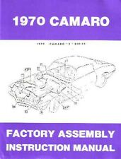 1970 Chevrolet Camaro F Series Assembly Manual Rebuild Illustration Instructions