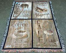 Havana Street ~ Destination Cuba Tapestry Afghan Throw