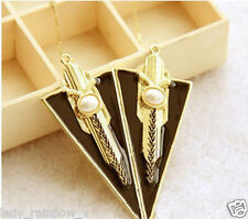 Fashion Sell Triangle Pearl Graphic geometric planes Sword Necklaces Pendants