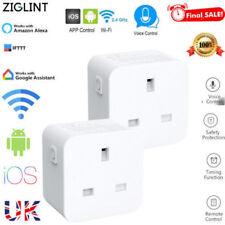 Intelligent WIFI Smart Timer Plug Wireless Socket for App Amazon Alexa Google UK