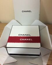 Chanel Black White With Red Ribbon Square Keepsake Gift Box Med Sz 8.5 x 8.5 New