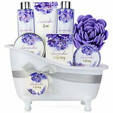 Bath and Body Gift Set 8 Pcs Bath Spa Gift Sets Lavender&Honey Scent Bubble Bath