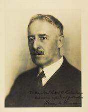 Superb War Secretary, Henry L. Stimson, Inscribed & Signed Photograph