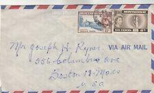 Montserrat Airmail Cover w/ side cut