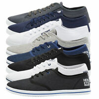 Henleys Connor Or Milo Mens Canvas Shoes Lace Up Plimsole Casual Trainers Pumps