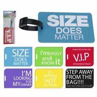 FUNNY LUGGAGE TAGS  Novelty Plastic Travel BagTags Personalise Label KOOPMAN UK
