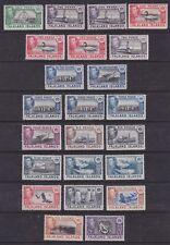 Falkland Islands 1938-50 Mint MLH/H Definitives King George VI 18 values + vars