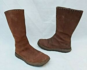TIMBERLAND DARK BROWN LEATHER MID CALF BOOTS US6W UK4 FREE UK P&P!!