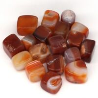 1/2 Lb Tumbled Natural Carnelian Agate Polished Mineral Energy Healing Stones