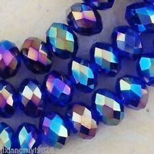 Wholesale!!!! 70 PCS swarovski Crystal Blue AB better Loose Bead 6x8mm