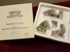 Dept 56 Heritage Christmas Village Collection Market Day Set of 3 Figures 5641-3