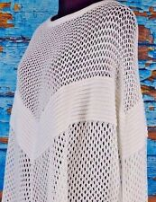 PH-5 Women's Knitted Poncho Sheer Size Medium NWT MSRP $225 Leather Accents