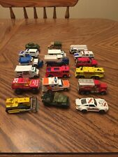 26 Matchbox, Hot wheel and other die cast cars trucks, ect