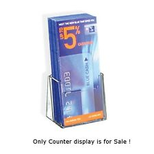 Count of 25 Trifold Size Single Brochure & Literature Tabletop Displays Holder