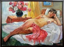 """Exceptional painting """"Nude model"""" of  Baranenko Vitaly Alekseevich, cm 68 x 93"""
