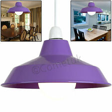 Vintage Lampshade Retro Metal Cafe Style Suspended Ceiling Light Lamp Shades UK