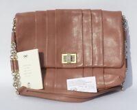ANYA HINDMARCH Gracie Mauve Antique Rose Leather Gold Chain Flap Shoulder Bag