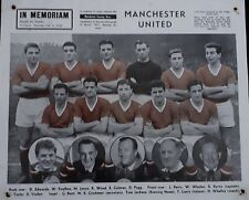 Rare Manchester United 1957 Triple Crown bid/ Munich air disaster team picture