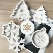DIY Xmas Snowflake Christmas Tree Cake Silicone Pastry Forms Candle Clay Mold