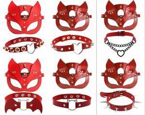 Adult Halloween Cat Mask Eye flirting Face Mask Masquerade party Costume+necking