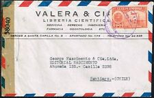 1472 Venezuela To Chile Censored Air Mail Cover 1944 Oil Stamp Caracas - Sgo.