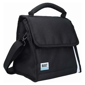Built Freezable Lunch Picnic Cool Bag With Removable Ice Gel Packs Black/White