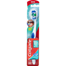 2 x Colgate 360 Whole Mouth Clean Toothbrush Medium (2 Pack) Free P&P