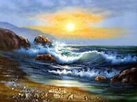 CHENPAT1135 ocean seascape sea wave handmade painted oil painting art on canvas
