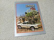 1991 SOUTH AFRICAN MAZDA B2600 SALES BROCHURE