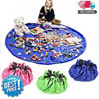 Tapis de rangement bricolage avec tapis de jouets pour enfants 2 en 1