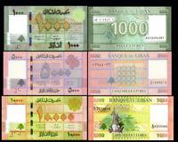 LEBANON SET 3 Pcs 1000, 5000, 10000  LIVRES 2014-2016 P-90-91-92 NEW-UNC