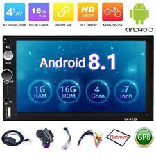 Android 8.1 Autoradio mit Navigation NAVI BLUETOOTH USB GPS Doppel 2DIN + Rahmen