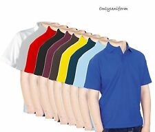 POLO SHIRTS MENS ADULT WORK CASUAL SPORTS COLOURS 22-42 SIZES TOP QUALITY