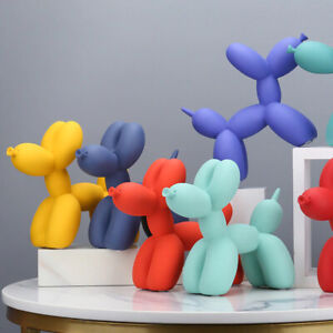 Balloon Dog Animal Figurine Resin Sculptures Cool Home Decoration Puppies Crafts
