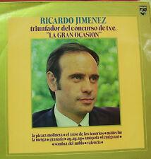 RICARDO JIMENEZ-TRIUNFADOR DEL CONCURSO DE T.V.E. LA GRAN OCASION LP VINILO 1972