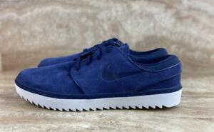 Nike SB Janoski G Spikeless Mens Golf Shoes Blue White Suede