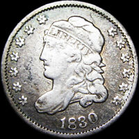 1830 Capped Bust Half Dime Silver US coin  ---- Nice Type Coin ---- #A431