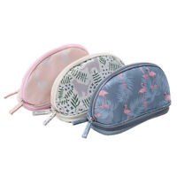 Toiletry Kits Double Layer Women Makeup Bags Travel Pouch Flamingo Cosmetic Bag