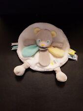 Doudou et Compagnie Unicef Panda ours plat pétale jaune vert blanc gris NEUF