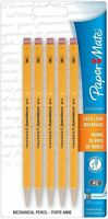 Paper Mate SharpWriter Mechanical Pencils, 0.7 mm, #2 HB, Yellow, 5 Pack