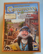 Carcassonne Expansion - Abbey & Mayor New Edition, Brand New with English Rules