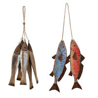 Wood Fish Decor Nautical Ornament Wall Hanging Wood Fish Decorations for Home
