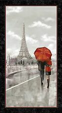 Artworks Digitally Printed Pre-cut Fabric Panel Couple in Paris 24637-K