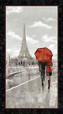 Artworks Digitally Printed Pre-cut Fabric Panel Couple in Paris 24637-K