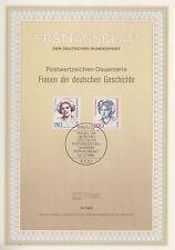 TIMBRE FDC ALLEMAGNE  BERLIN OBL ERSTTAGSBLATT LOTTE LEHMANN ET LUISE VON  1989
