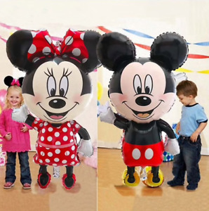 Mickey Minnie mouse birthday balloons 3 4 5 years old inflatable decoration Kids