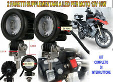 2 FARETTI FARI FARO SUPPLEMENTARI MOTO LED 12V 10W 6000K ALLUMINIO KIT COMPLETO