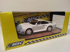Slot Car Scalextric MSC 6032 Porsche 959 Street car white - Montecarlo chassis-