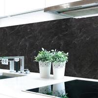 Küchenrückwand Schiefer Schwarz Premium Hart-PVC 0,4 mm selbstklebend
