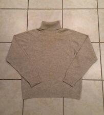 Women's BRUNELLO CUCINELLI 100% Cashmere Turtleneck Sweater Oatmeal Beige S Vtg